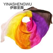 Belly Dance Props Women Silk Veils Veil For Girls Rainbow
