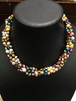 100% real pearl necklace cultured multicolor accept order any lenth beach style fashion women jewelry