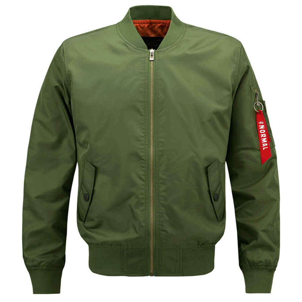 M-6XL 2020 yeni bombacı ceket erkekler MA1 yan fermuar kollu ordu askeri ceketler portmanto yaka rüzgarlık Chaqueta Hombre