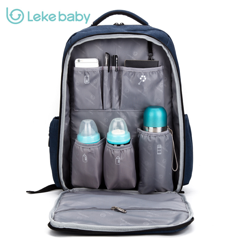 2018 Lekebaby baby diaper bag backpack travel stroller nappy bag mummy maternity for mom daddy baby bags maternal Brand bag Hook baby mom changing diaper tote wet bag for stroller mummy maternity travel nappy bag backpack messenger bags bolsa maternidad