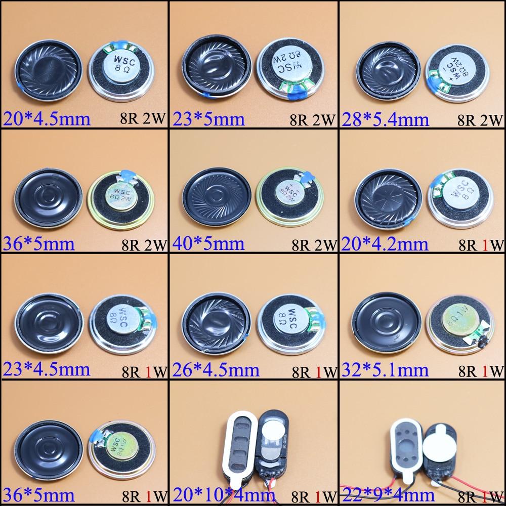 YuXi 8 Ohm 2W 1W 8R 1/2W  20mm 22mm 23mm 26mm 28mm 32mm 36mm 40mm Diameter Loudspeaker Loud Speaker