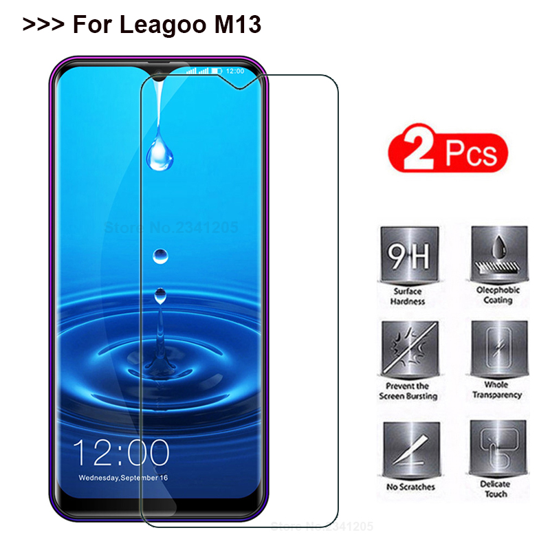 Tempered Glass For Leagoo M13 Screen Protector Explosion-proof Smartphone Protective Glass Film Screen Cover Case For Leagoo M13