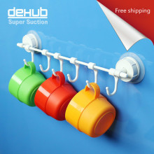 Vacuum Sucker Wall Hook Hangers Suction Towel Holder Korea DeHUB Super Cup In White