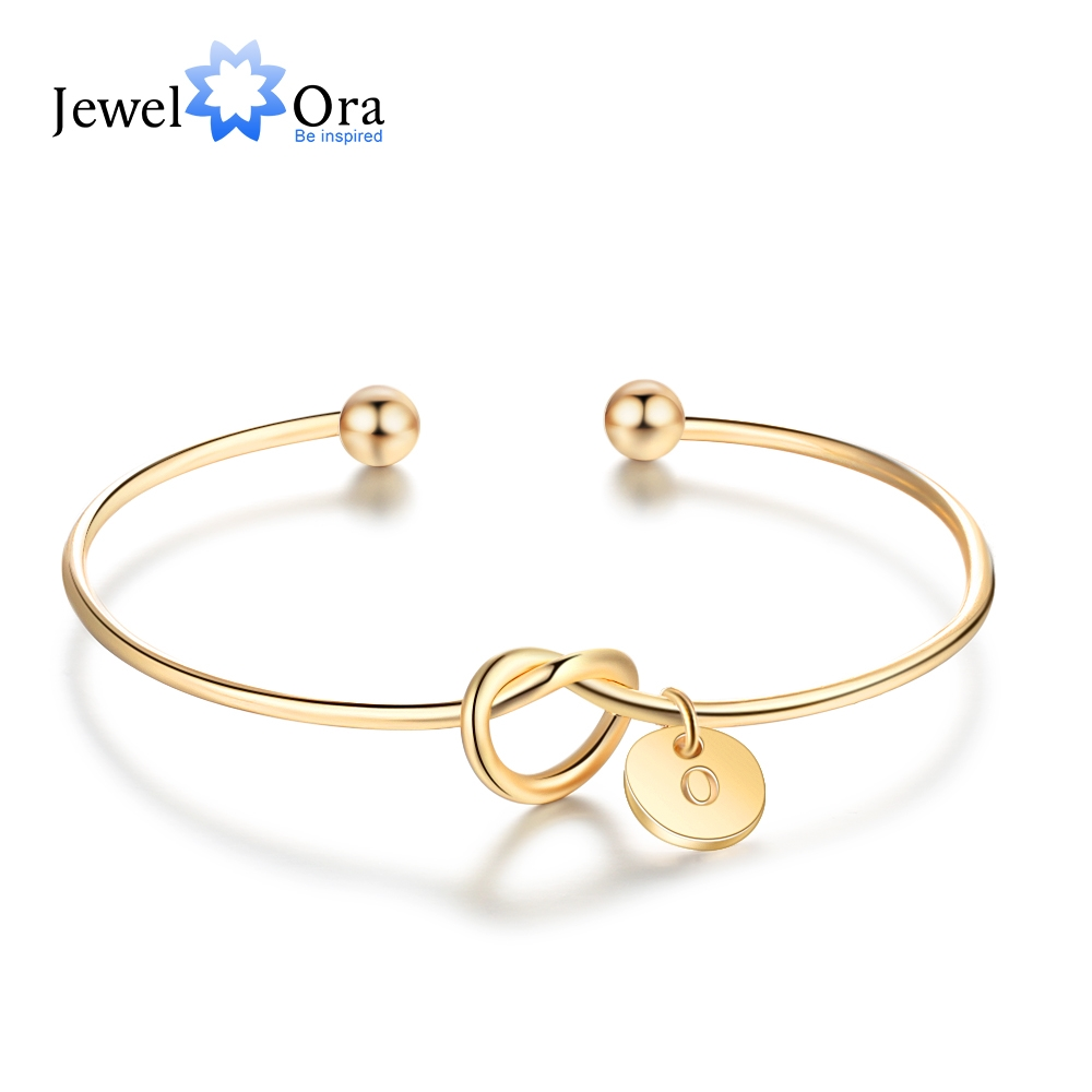 A To Z Letters Optional Bangle 3 Color Bracelets Bangles Bridesmaid Jewelry Sister Gift JewelOra BA102101