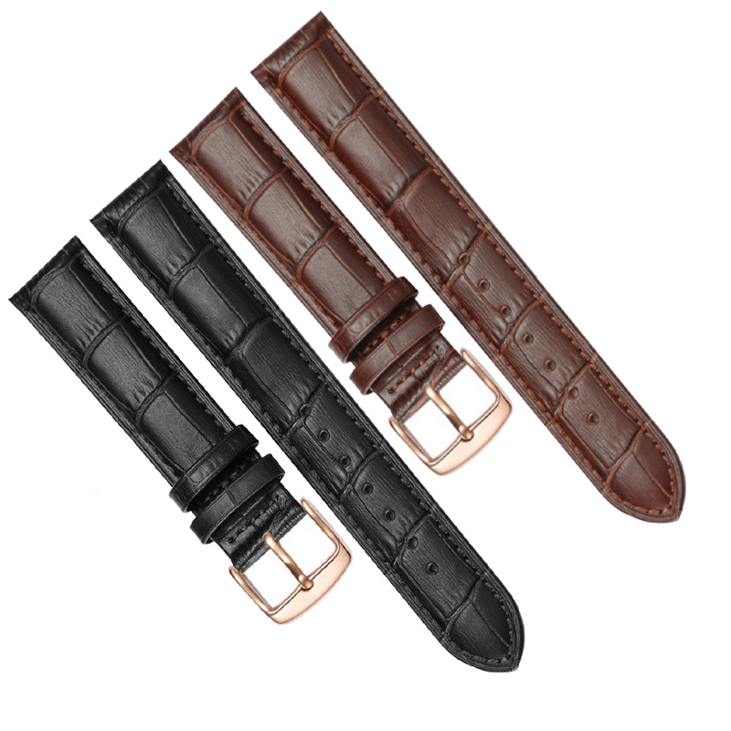 Replacement Cow Leather Strap For Brand Watch Leather Watch Bracelet Watchband 12mm 14mm 16mm 18mm 19mm 20mm 21mm 22mm