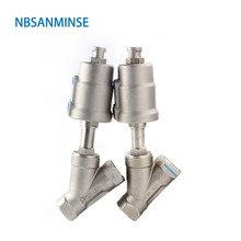 JDF 100S0NC6 G 1-1/4 1-1/2 2 2-1/2 3 Angle Seat Valve Air Pneumatic Stainless Steel 316 Normally Closed Sanmin все цены