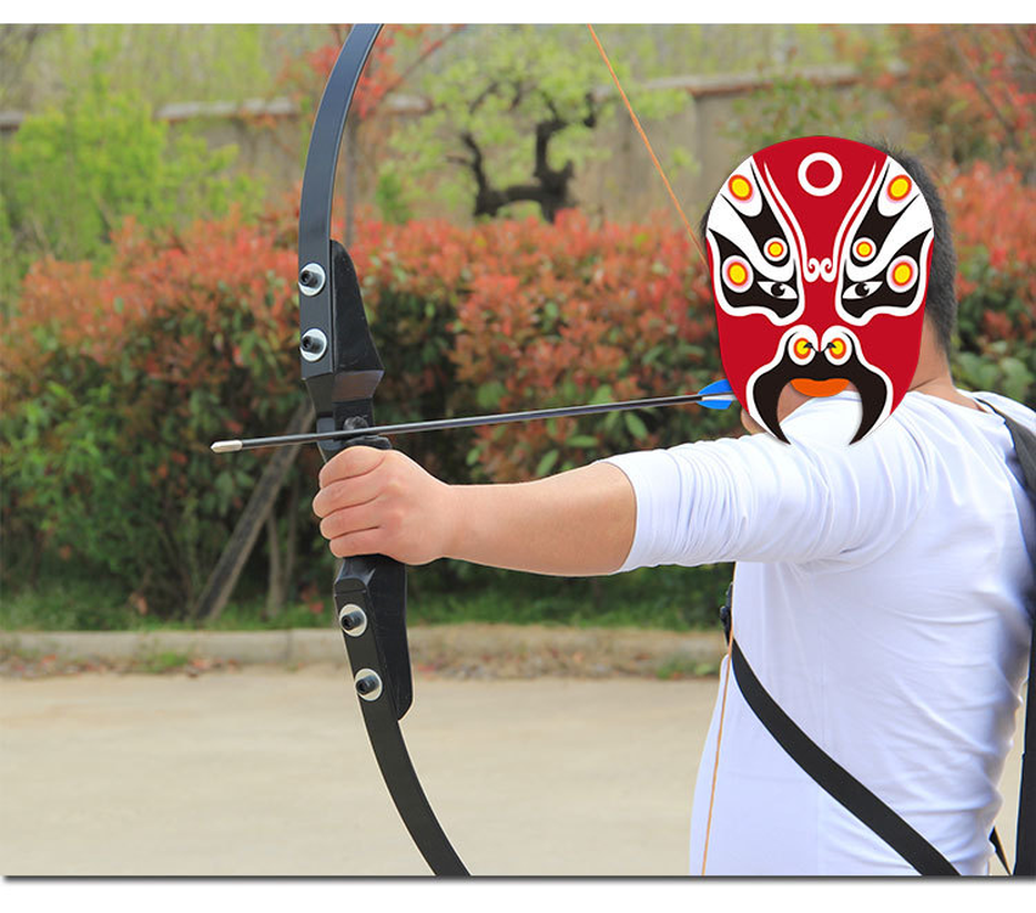 Bow and Arrow Professional 30 40lbs Recurve Bow for Right Hand Wooden Archery Bow Outdoor Shooting Hunting Accessories Sports in Bow Arrow from Sports Entertainment
