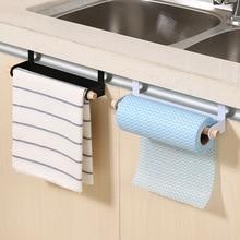 1pcs Πολυλειτουργικό σιδερένιο ντουλάπι κουζίνας Πόρτα πίσω Ρακέτα πετσετών Κρεμαστά κάτοχος Μπάνιο Τουαλέτα Ρολόγια Κάρτα αποθήκευσης χαρτιού