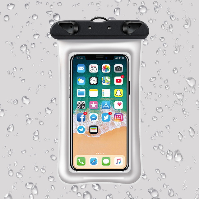 6 Inch Float Airbag Waterproof Swimming Bag Mobile Phone Case Cover Dry Pouch 2