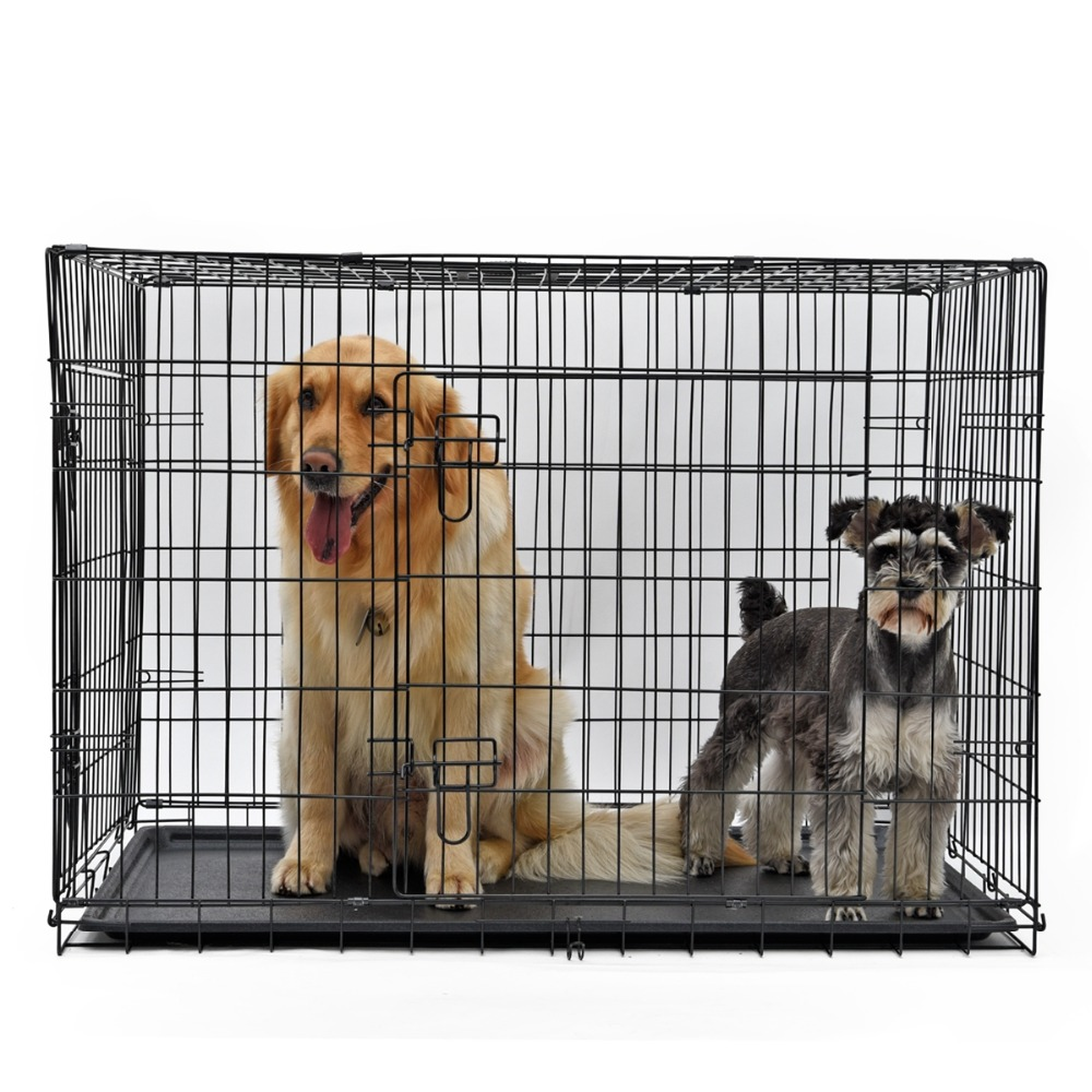 Fast Delivery Strongly Recommend Plating Iron Wire Spring Door Pet Dog Cat Rabbit Cages Guinea Pig Cage Oversized Travel Carry