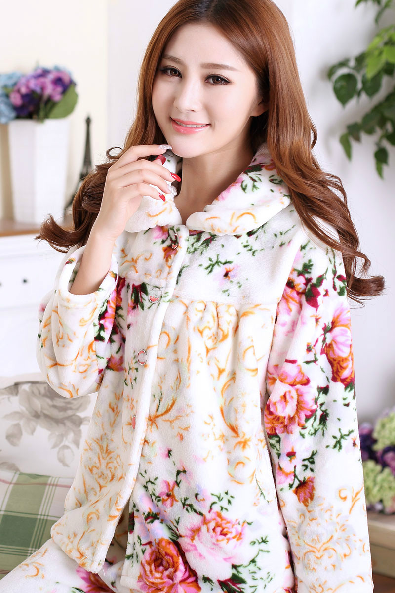 198240934 Sweet Memory soft warm sleep wear Autumn Winter thick flannel pajamas set  Clearance Sale Promotional price S001M-in Pajama Sets from Underwear    Sleepwears ...