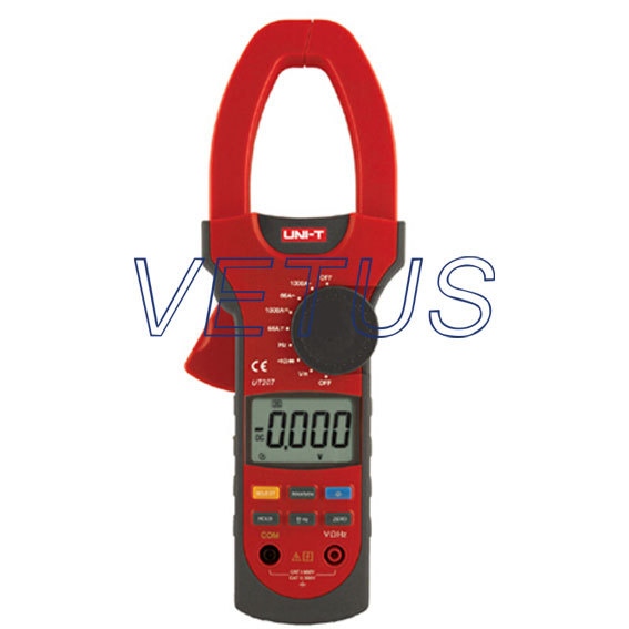 UNI-T UT207 LCD Digital  AC DC Clamp meter Clip-on multimeter with TRUE RMS fluke f302 1 6 lcd ac clamp meter yellow red 3 x aaa