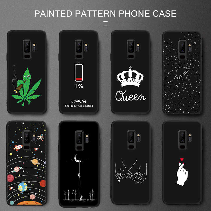 Ultra Thin Matte Phone Case For Samsung Galaxy Note 8 J4 J6 A6 A7 A8 Plus 2018 A5 A520F 2017 S9 S8 + Funny Pattern Cases Cover