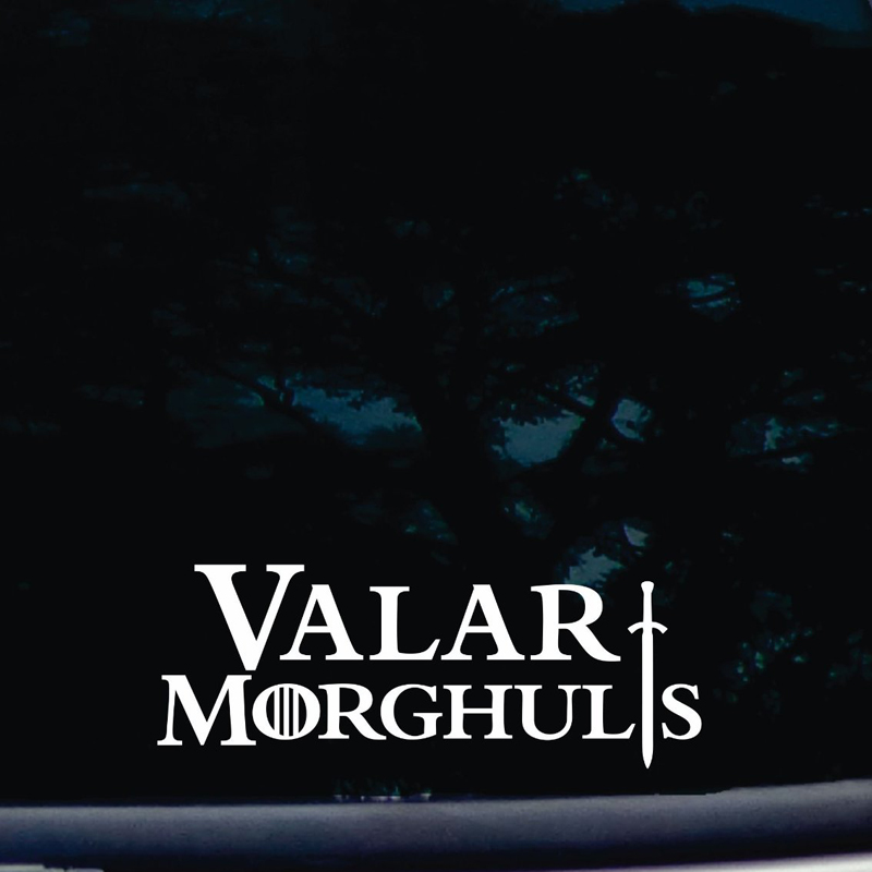 """Methodical Valar Morghulis 8"""" Die Cut Vinyl Sticker Decal For Windows Cars Trucks Tool Boxes Laptops Notebook Not Printed! Without Return"""