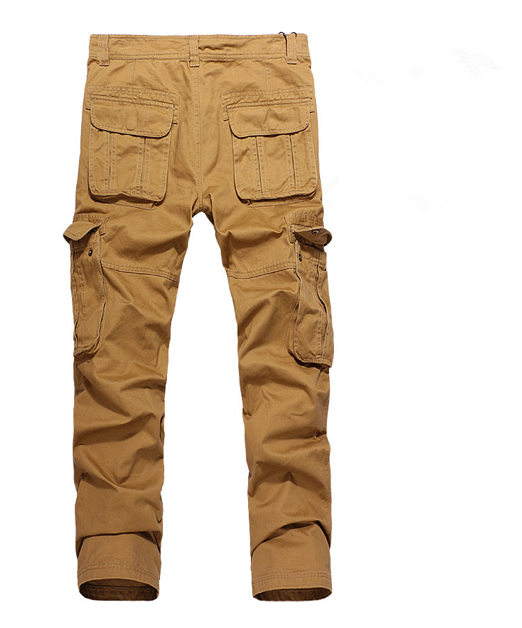 Cargo Pants Mens Summer Overalls Full-Length Multi-Pockets Trousers Cotton Loose Tactical Styles Plus Size Men Casual Trousers