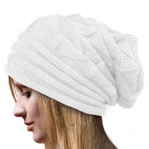 2019 Fashion Fold Cuff Sleeve Head Cap Men Women Skiing Warm Hats Knitted Hat Outdoor