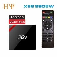 3PCS LOTS Original X96W Smart TV Box Media Player Android TV Box 7 1 Amlogic S905W