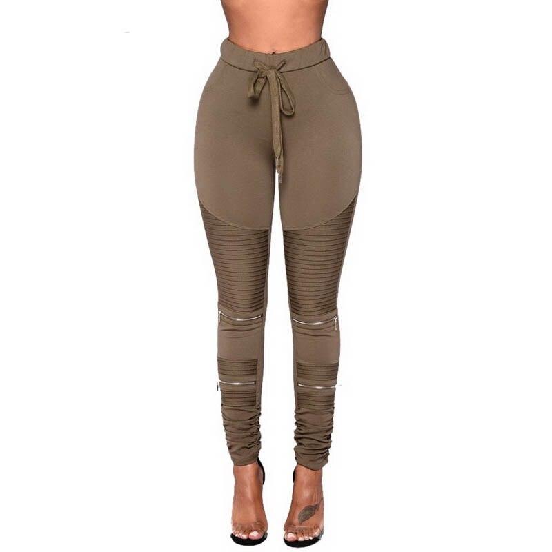 CALOFE Plus Size 5xl Fashion Zipper Cut Out Pencil Pants Women Patchwork Striped Pants Female Skinny Drapped Leggings Trousers
