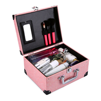 Women Professional Cosmetic Case Ladies Makeup Travel Organizer Bag Leather Cosmetic Bag Toiletry Travel Kits Beautician Storage