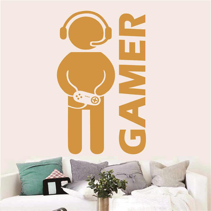 Video Game Gaming Gamer Wall Sticker Vinyl Art Mural For ...