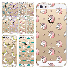 Funny Cute Unicorn Printed Case For Apple Iphone 5 5S SE Clear TPU Fashion Silicon Coque 13 Patterns Capa Bags Covers