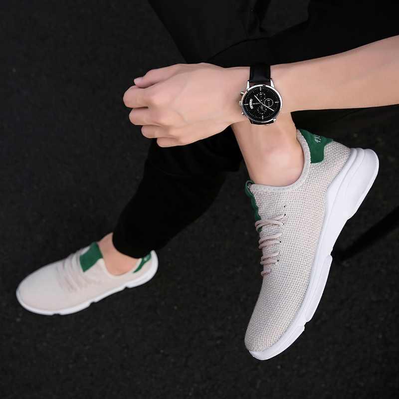 الربيع الصيف الأحذية الرياضية للرجال أحذية رياضية 2018 شبكة تنفس الرجل الاحذية الرياضية الذكور المدربين خفيفة الوزن رجل العدائين