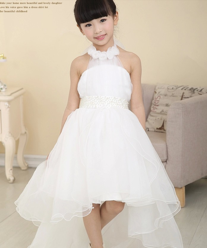 Wedding Flower Girl: Toddler Baby Girl Tube Wedding Dress White Party Dresses