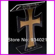 Акриловый крест лектерн Подиум оргстекло