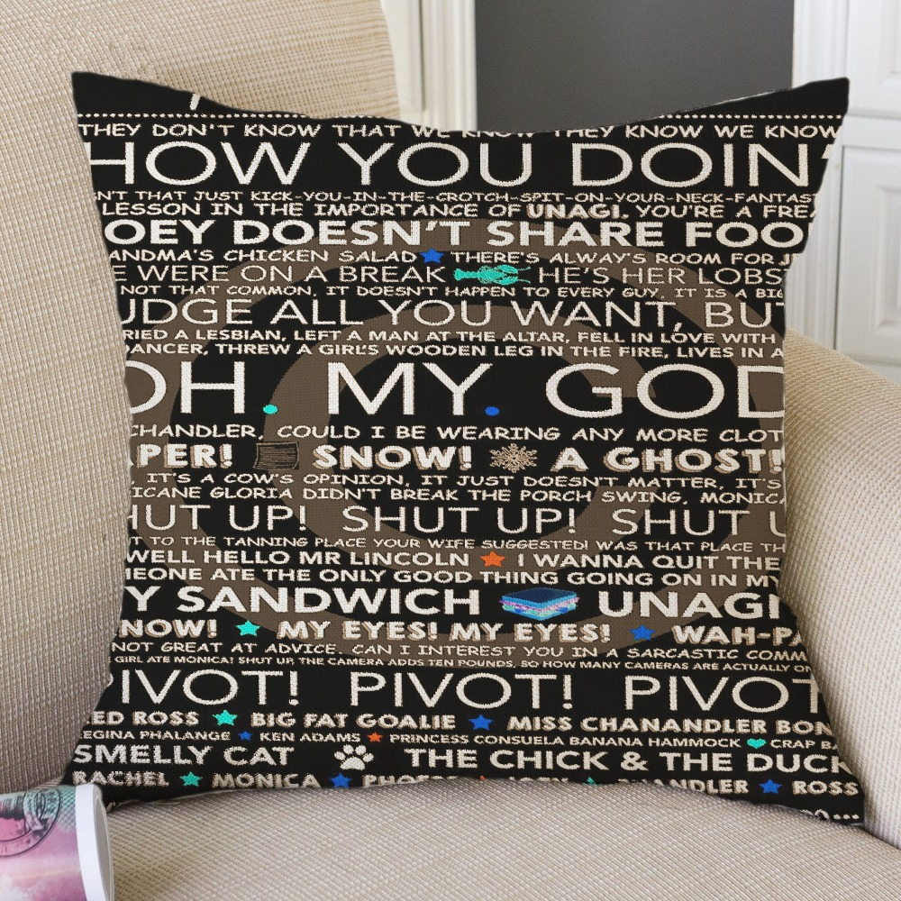 Sofa Pillow Cases Cushion Cover Friends TV Show Pillow Covers Home Decor