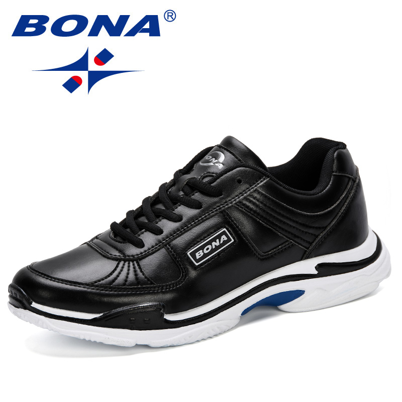 BONA 2019 Breathable New Listing Male Shoes Light Weight Outdoor Walking Sneakers Men Comfortable Casual Shoes Leisure Footwear-in Men's Casual Shoes from Shoes    1