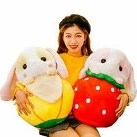 Cute Stuffed Rabbit Plush Toy In Fruits School Cartoon Bunny Plush Throw Pillow Decorate Funny Gifts