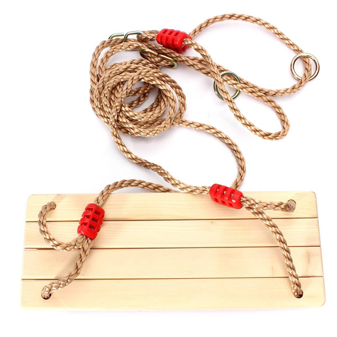 Adults And Children Swinging Swings Wooden Swing With Rope