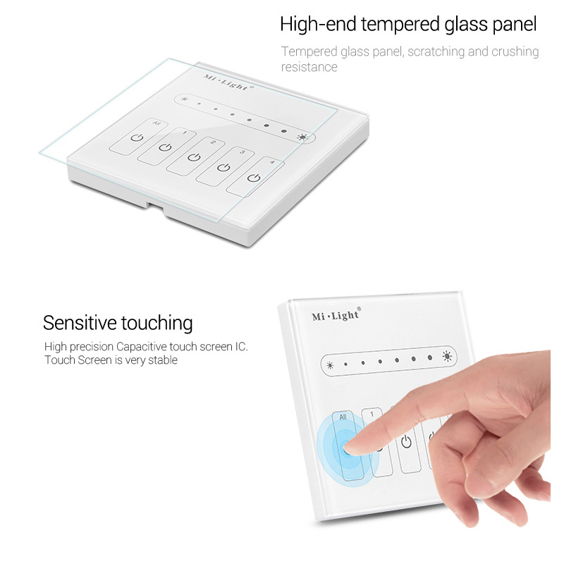 L4 AC100 240V 4 channels output independent control Wall mounted 4 Channel 0 10V led Panel Dimmer for led light lamp in Dimmers from Lights Lighting