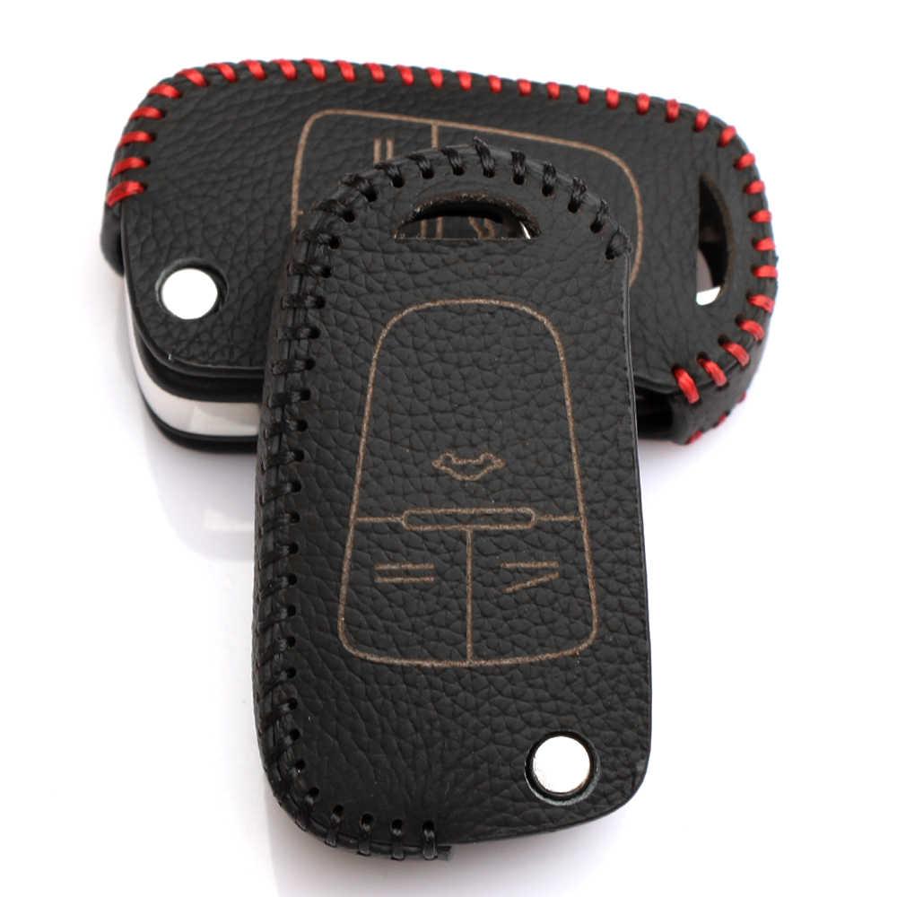 Чехол из натуральной кожи для автомобильного ключа с дистанционным управлением для Chevrolet Cruze для Opel Mokka Astra Corsa Antara Meriva Zafira Insignia