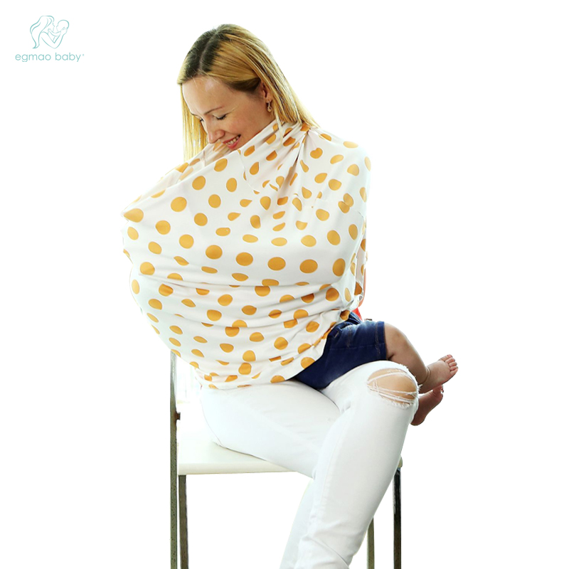 Baby Car Seat Cover Canopy Nursing Cover Multi-Use Stretchy Infinity Scarf Breastfeeding Shopping Cart  Cover price favorable