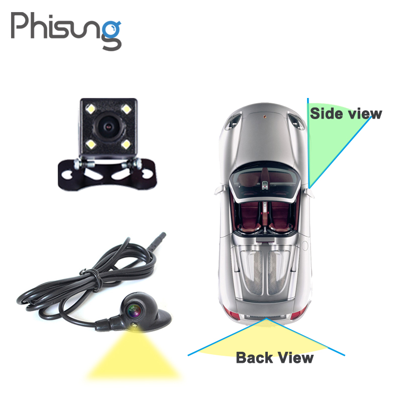Dual view car camera for Right left blind spot system Car rear view camera Parking System Switch Control for 3G/4G Android DVR car camera for right left blind spot system car rear view camera for ford focus 2 3 maverick escape kuga c max car styling