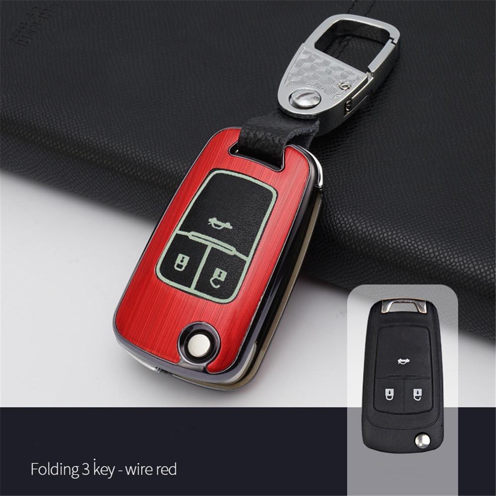 Voiture accessoires De Voiture Key Case Cover Pour Chevrolet Chevy Cruze Camaro Equinox Malibu Sonic Spark Volt Pour Opel ASTRA Corsa antara