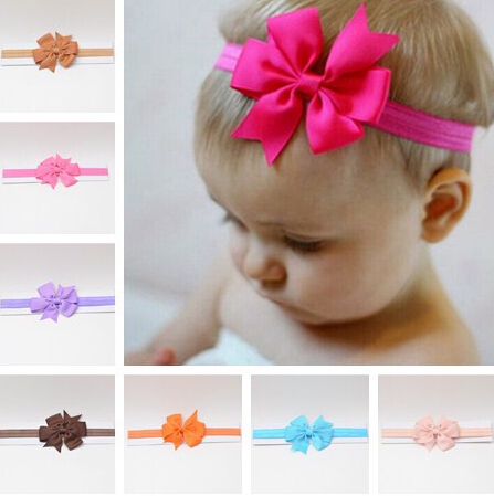 Hot Sale 6 Piece Lot Headwrap Bowknot Baby Headbands Baby Headwear