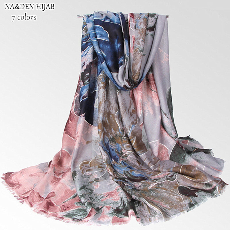 20PCS silver Flower lace print scarf long pashmina style pashmina women scarves shawls brand wrap soft