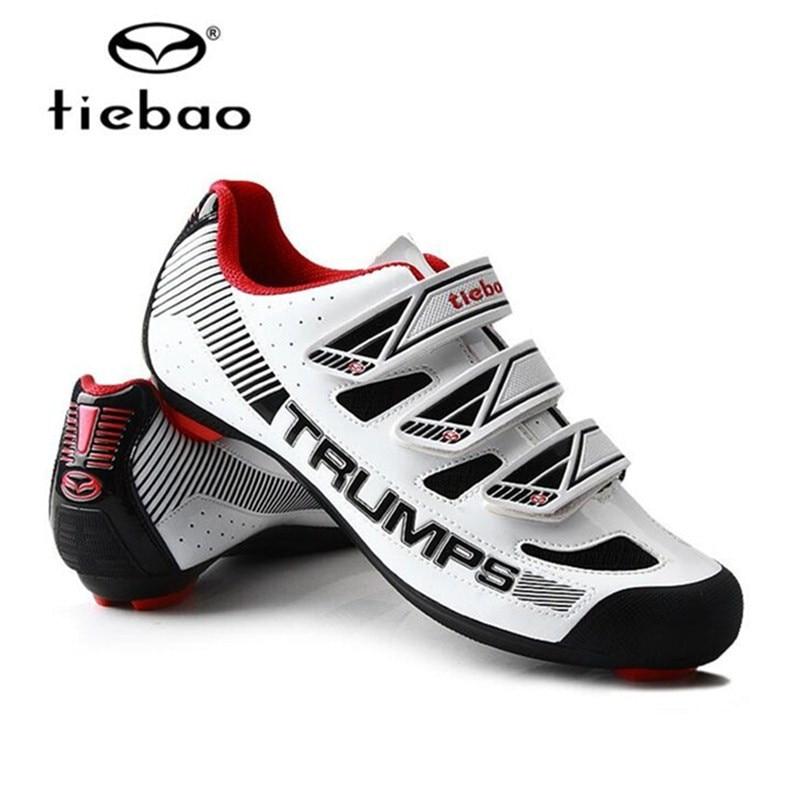 Купить с кэшбэком Tiebao Cycling Shoes Road add pedal set Triathlon Professional Bike Bicycle Men Breathable Outdoor Sports Sneakers Zapatillas