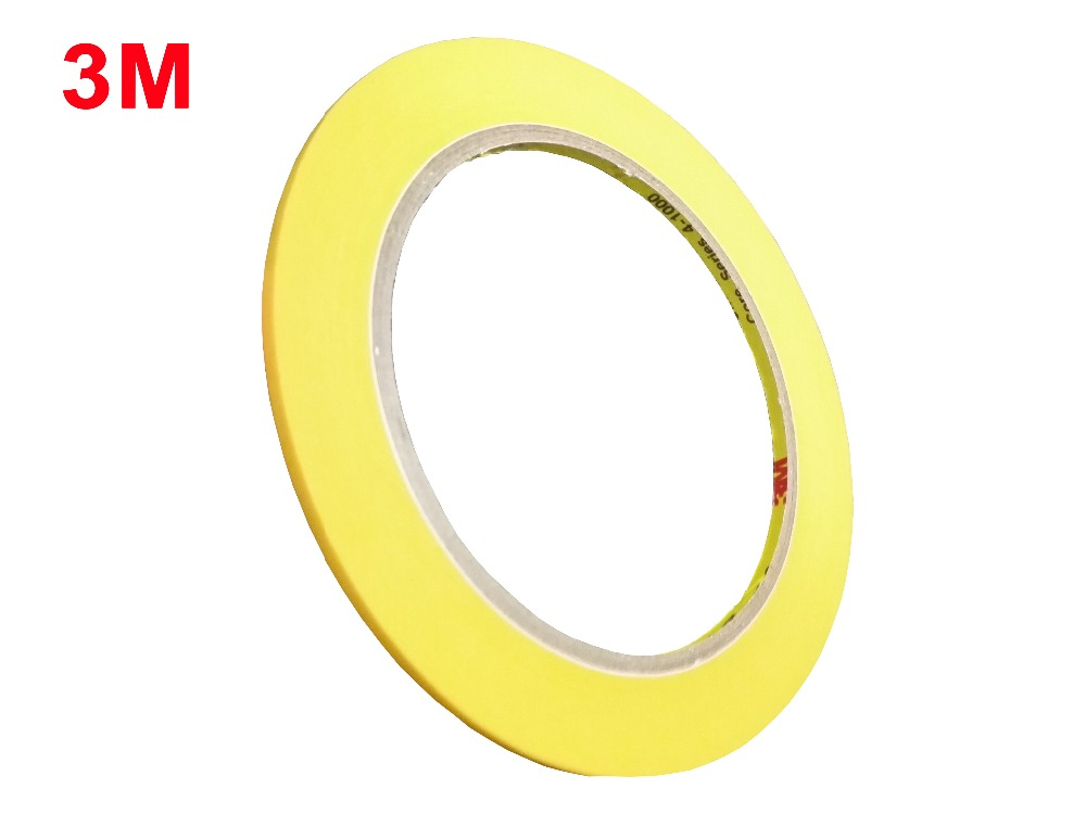 Slim 4mm *50Meters, 3M244 Hi-Temp Masking Tape Car Painting Refinish Electronic Protection 3M Single Sided Tape