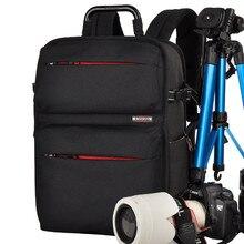 Новое Прибытие Профессиональный DSLR Камеры Рюкзаки Женщины Мужчины Оксфорд Водонепроницаемый Противоударный Ноутбук Плечи Сумка Для Портативного Компьютера