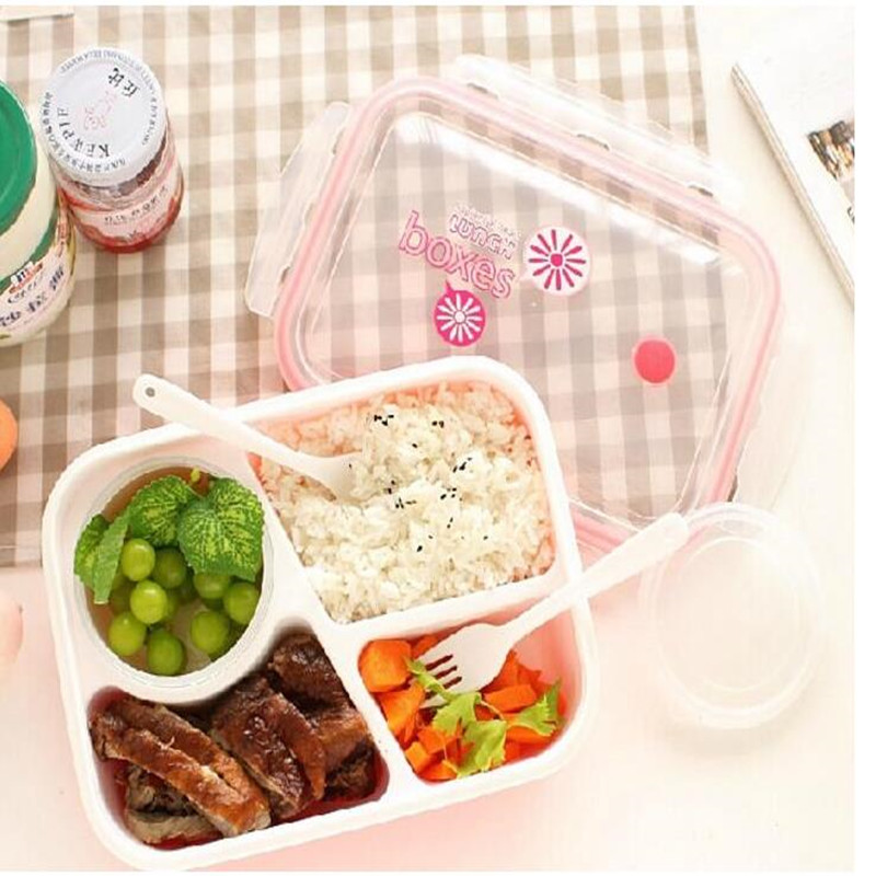 Urijk Plastic Food Container Lunch Boxes Lunchbox Microwaveable Lunch Bento Box for Dinner Portable Boxes for Food Kids Picnic