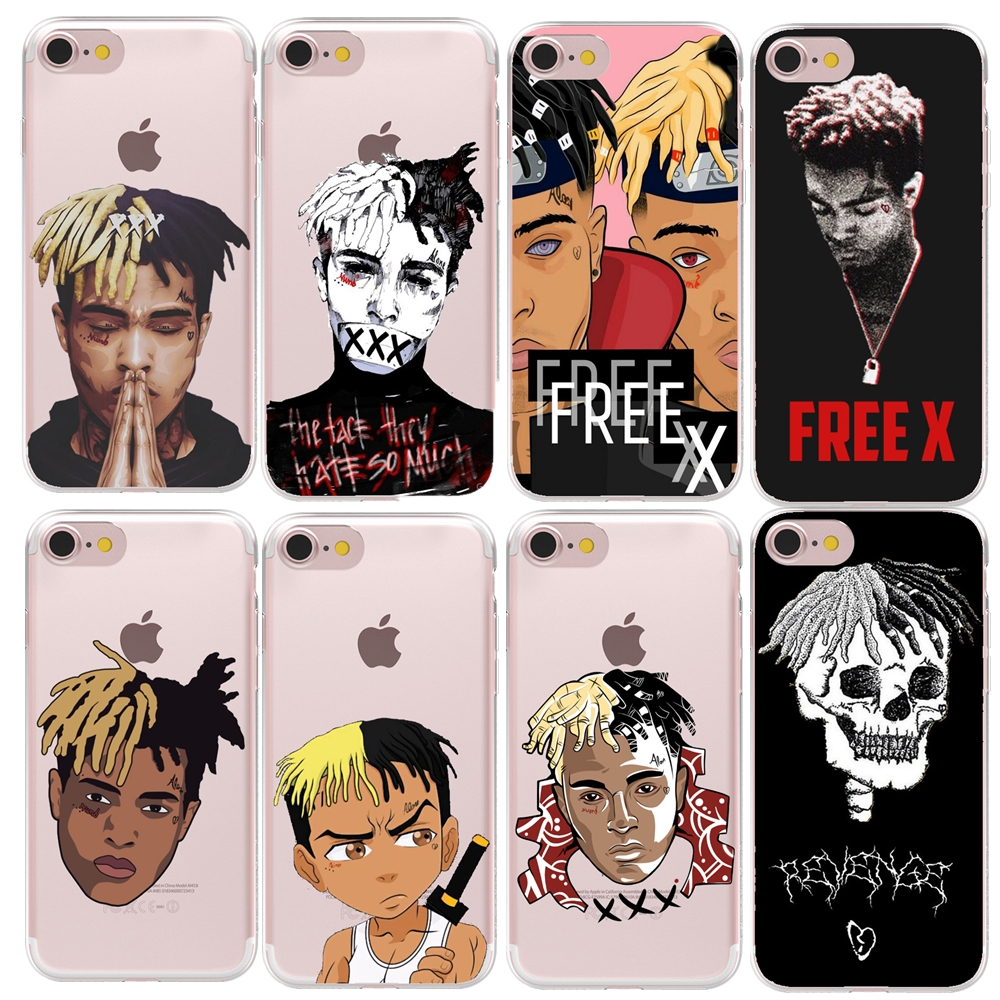 HryCase Matte Hard Plastic Xxxtentacion Case Cover For Apple iPhone 8 7 X 6 Plus 5 5S SE XS Max XR Transparent Phone Cases mercury goospery flash powder gel tpu cases cover for iphone se 5s 5 rose