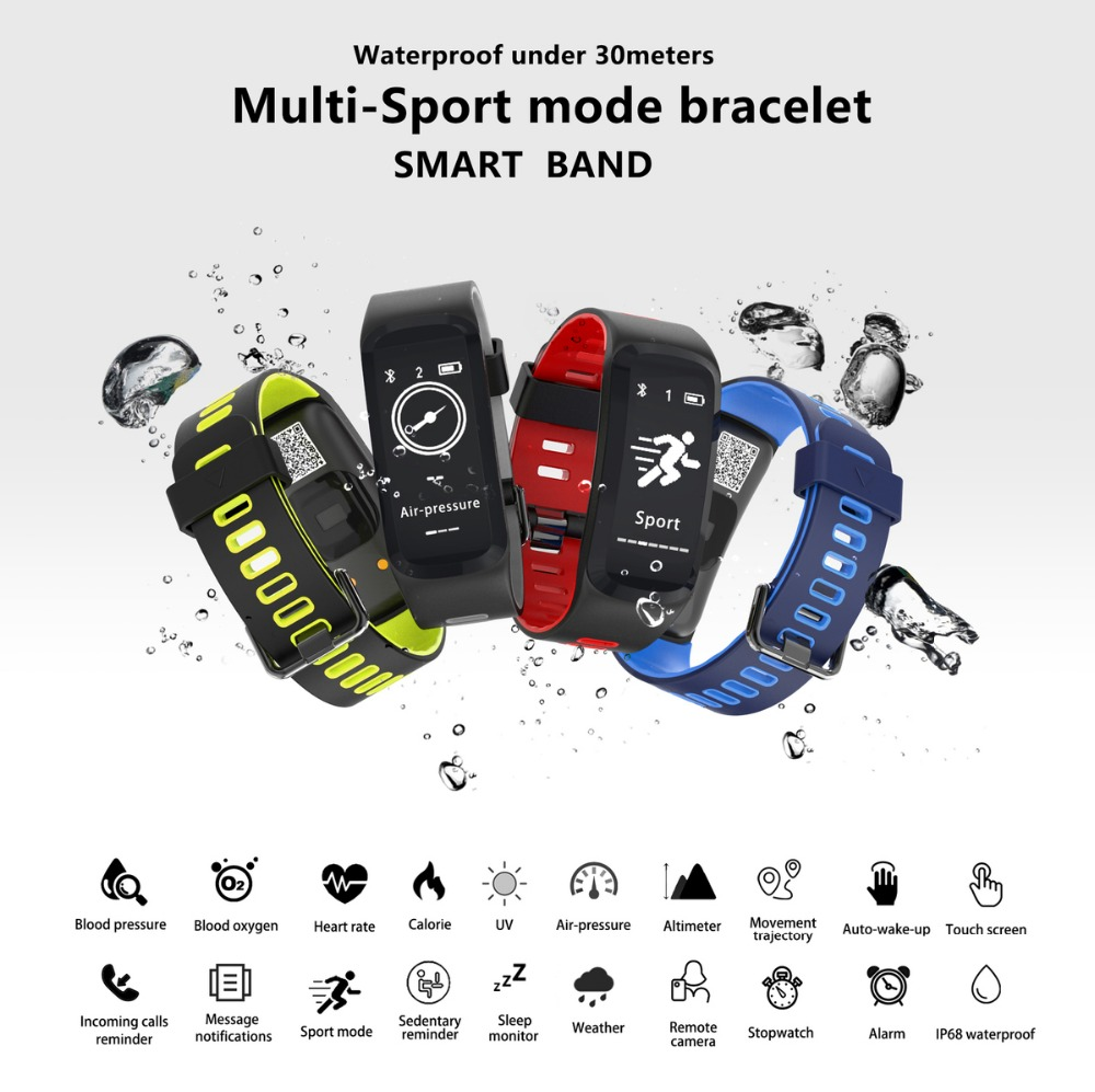 DTNO.1 F4 Original Smart Watch Bluetooth Smart Bracelet Push Message Fitness Sleep Tracker Sports Smartwatches For IOS Android (14)
