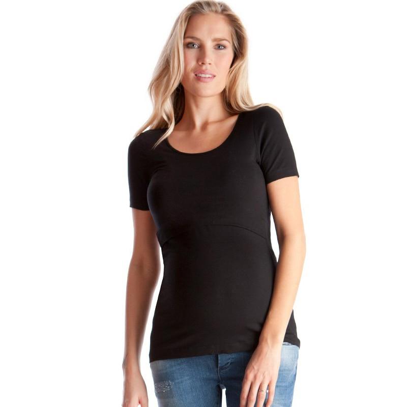 b1127eb58d483 Summer Cotton Maternity Nursing T-shirt Breastfeeding Top Tees Clothes For Pregnant  Women Pregnancy Nurse Wear Clothing 2017   The Brand Shop