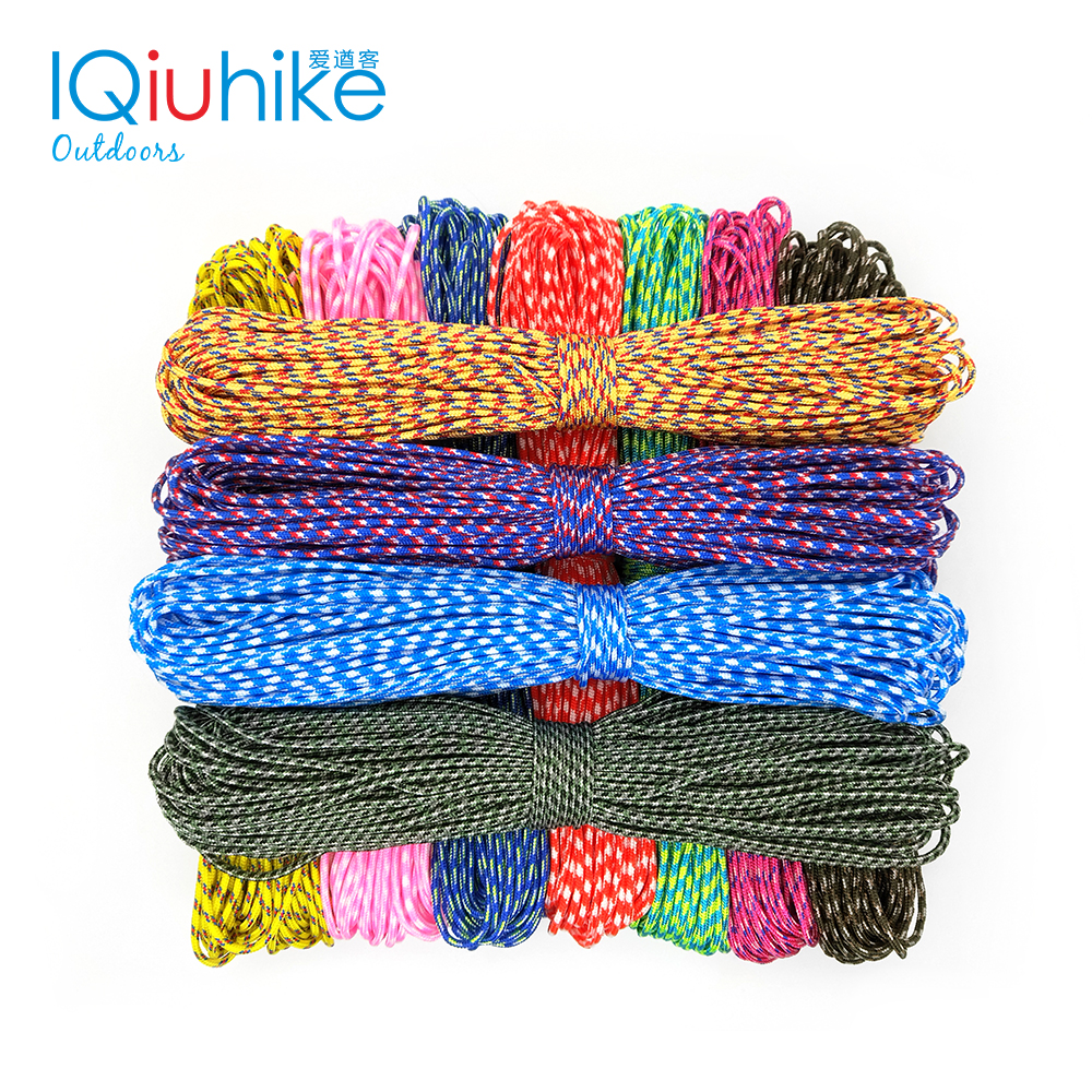IQiuhike 50FT Paracord 2mm One Stand Cores Paracord For Survival Parachute Cord Lanyard Camping Climbing Camping Rope