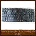 Оригинальный Черный Русский Клавиатура для HP Pavilion DV7-7000 DV7-7100 dv7t-7000 dv7-7200 RU Клавиатура ноутбука