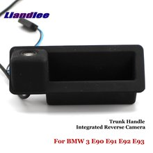 Liandlee For BMW 3 E90 E91 E92 E93 Car Rearview Reverse Camera Backup Parking Rear View / Integrated Trunk Handle