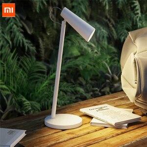 Image 1 - أحدث Xiaomi Mijia شحن لمبة مكتب 2000mAh USB قابلة للشحن المحمولة الجدول 3 الصف وسائط يعتم القراءة ليلة ضوء